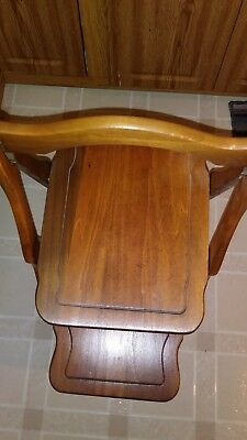 Wood rectangu End Table - plant Stand 2 teir Antique / Vintage.