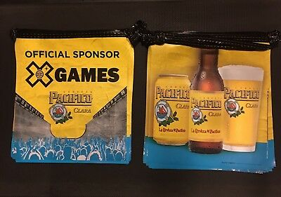 NEW Pacifico Clara Cerveza X Games Beer String Banner Bar Flags Bottle Yellow