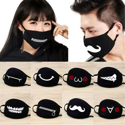 Black Health Cycling Anti-Dust Cotton Half Mouth Face Unisex Face Mask