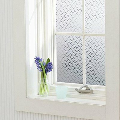 Privacy Window Film for UV Blocking Non-Adhesive Decor Static Cling Glass Films.