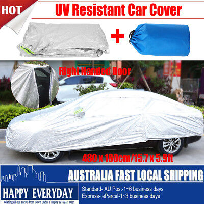 Waterproof Ultra Large 4.8x 1.8m Full Car Cover 3 Layer Breathable UV Protection