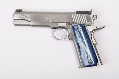 1911 Hand Grip  Faux Blue Pearl Colt S&W Springfield