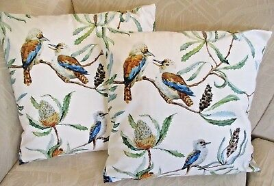Australian Souvenir Gift Kookaburra Bird Soft Polyester Cushion Cover FREEPOST