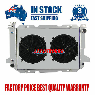 ALLOYWORKS 3 Row Core Aluminum Radiator+Shroud Fan+Thermostat For 1966-1979 Ford F100 F150 F250 350 Bronco V8