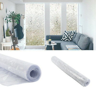 PVC Frosted Privacy Window Glass Cover Film Sticker For Bedroom Bathroom New