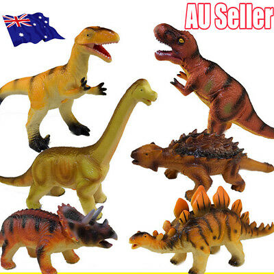 Large Soft Rubber Stuffed Dinosaur Toy Model Action Figures Play For Kid MN