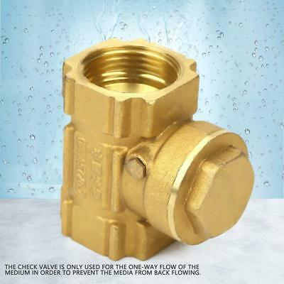 HighQ DN20 Brass One-way Automatic Swing Check Valve for Water Oil Acidic Media