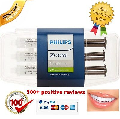 👉 Philips Zoom! NiteWhite ACP 22% Teeth Whitening - 2.4ml x3 Syringe Kit ✅