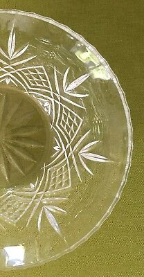 Crystal (French) Lead Cut Glass Fruit Bowl 24% pbo Boxed Vintage