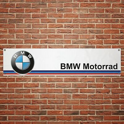 BMW Motorrad Banner Garage Workshop PVC Sign Motorcycle Track Display