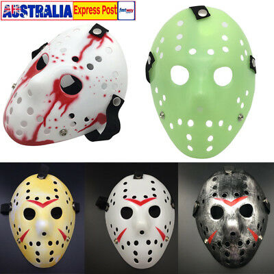 Jason Voorhees Mask Friday The 13th Horror Movie Hockey Halloween Costume Prop