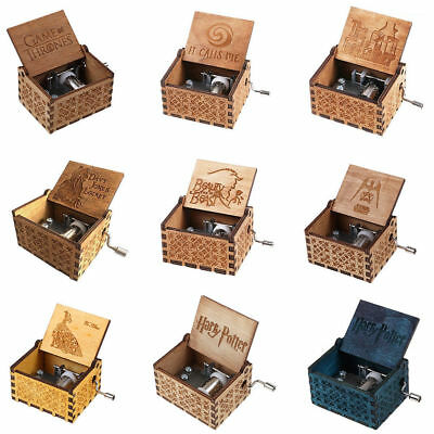 Harry Potter Music Box Engraved Wooden Music Box Interesting Craft Kids Toys