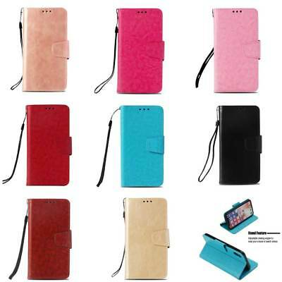 For Huawei Mate 10 Lite P20 / Moto G6 Vintage Leather Wallet Magnetic Flip Case