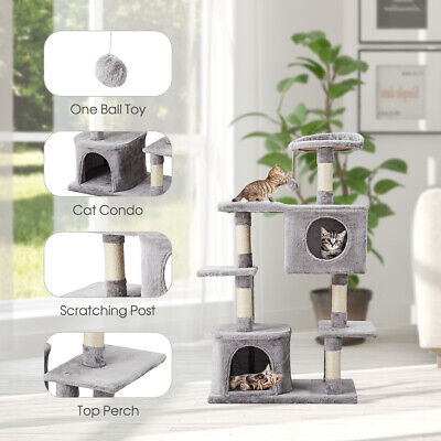 117cm Cat Tree Activity Centre Climbing Tower Furniture Sisal Scratching Posts