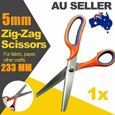Fabric Steel Dressmaking Pinking Shears Craft Zig Zag Sharp Cut Scissors Tailor