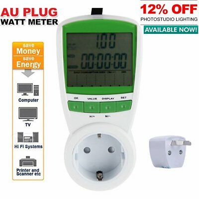 Power Energy Consumption Watt Meter Electricity Usage Monitor Socket 230V QI
