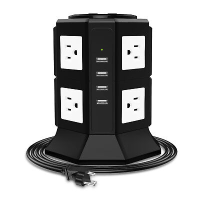 Power Strip 8 Multi Outlets Surge Protector with Overload Protection 4 USB Ports