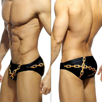 Fashion Men's Camo Swim Briefs Swimwear Bikini Beach Swimming Trunks Swimsuit AU