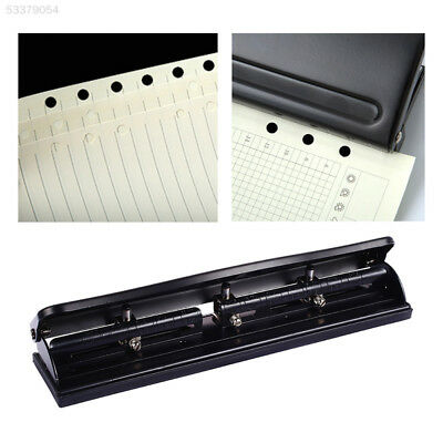 DD2E Portable Holes Punch Metal Filing Stationery Loose-Leaf Paper Puncher