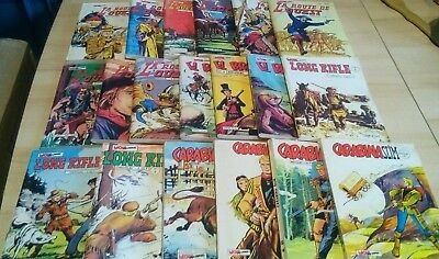 LOT DE 19 BD PETIT FORMAT WESTERN MON JOURNAL- Carabina Slim,El Bravo....BE  TBE