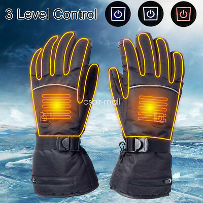 Electric Heated Gloves Touch Screen Thermal Motorcycle Scooter Winter Outdoor