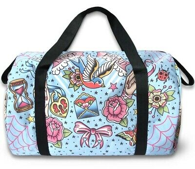 LIQUORBRAND Tattoo Flash TRUE LOVE Large Travel Overnight Gym Duffel Duffle Bag