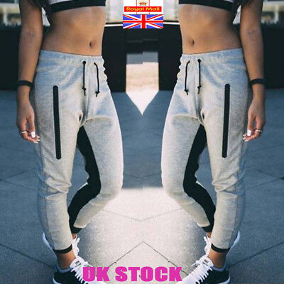 Womens Elastic Jog Pants Skinny Sweatpant Casual Joggers Bottoms Trousers