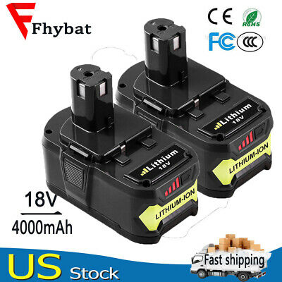 2Pack 4.0Ah New Lithium Battery For Ryobi 18V ONE+ Plus P108 P102 P103 P104 P105