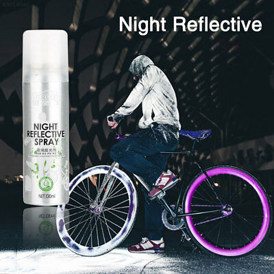 4D76 Night Reflective Spray Paint Reflecting Reflector Anti Accident Riding Bike