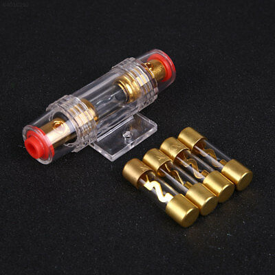 2136 Auto Car Audio Amplifier 4/8 AGU Fuse Holder Gold Plated with 4Pcs Fuses