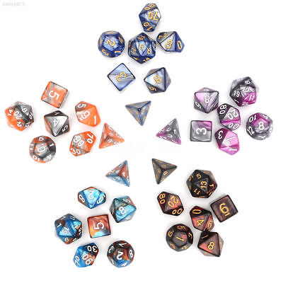 01BF 7Pcs/1Set Polyhedral Number Dice Set Various Facet Acrylic Colorful Toy