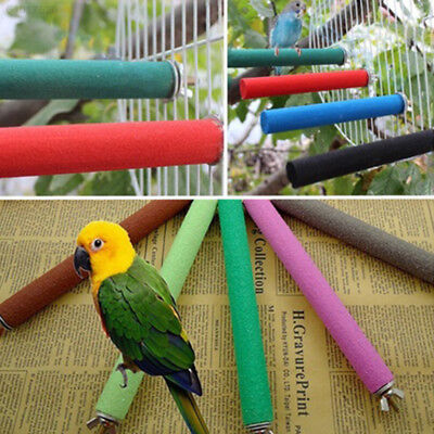 3F77 Parrot Birds Nest Grind Claw Mill Arenaceous Stick Standing Pole Perch AAAE