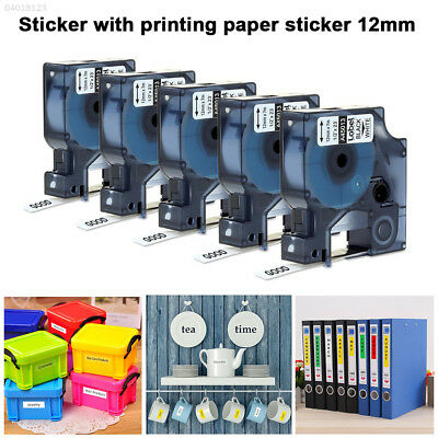 43CC 0598 A45013 12mm X 8m Label Printer Tape Tag Waterproof Home for DYMO D1