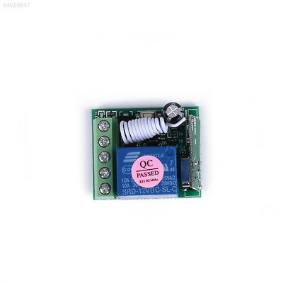 48B9 315MHz/433MHz 1 Channel Relay RF Remote Control On/Off Switch Receiver Gree