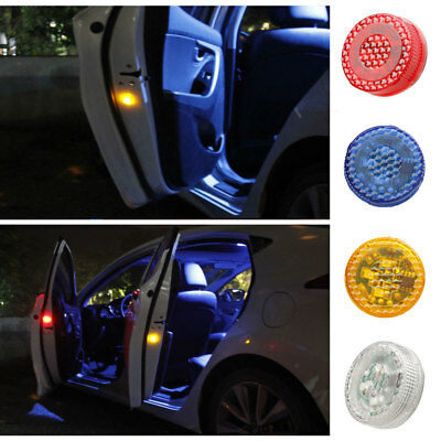 A13A Automobile Car Door Opening LED Flash Light Wireless 2PCS Safety Warning
