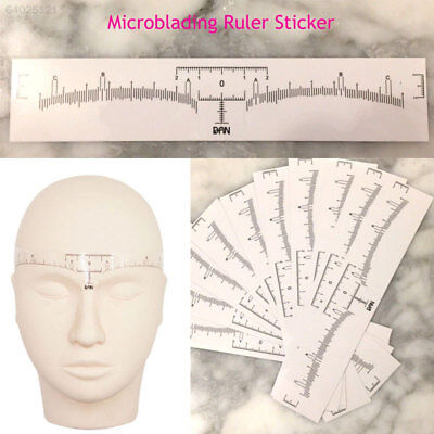 68BB F91A Disposable Eyebrow Ruler Eyebrow Stencil Transparent Sticker Position