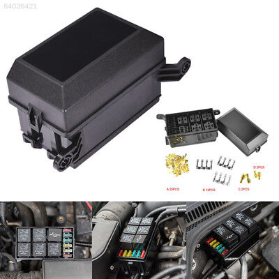 2F0A Car Fuse Box 6 Relay Block Holder Universal Kit for Nacelle Insurance 7279