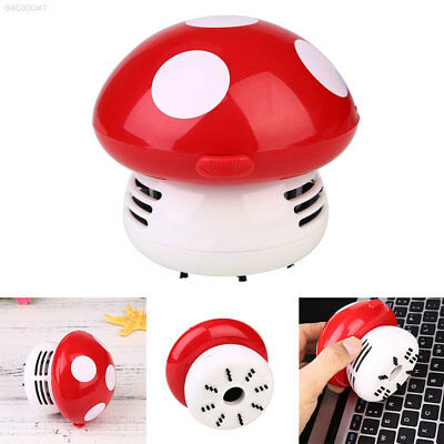 A528 Mini Cute Mushroom Shape Table Vacuum Dust Computer Dirt Cleaner Sweeper