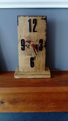 Oak Mantle Clock made from retired whiskey barrel stave