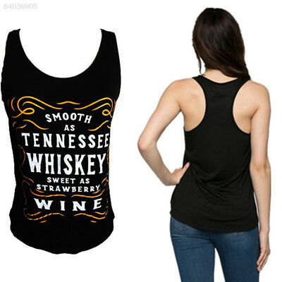 037E SMOOTH AS TENNESSEE WHISKEY Women Fashion Tank Tops Vest Sleeveless T-Shirt
