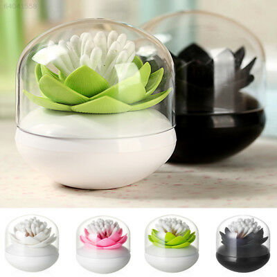 0F2C Dual Use 4Color Lotus Cotton Toothpick Storage Box With Cover Decoration