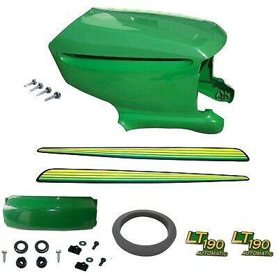 New Upper & Lower Hood/Bumper/Foam Isolator/LH&RH Stickers Fits John Deere LT190