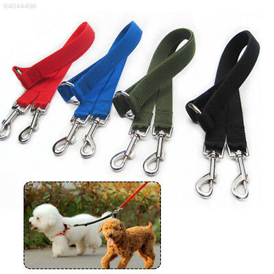 4D8C Pet Double Head Lead Leash Traction Rope For Two Dogs Walking Jogging Split