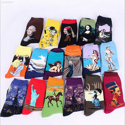 2204 Fashion Retro Vintage Unisex Art Painting Funny Novelty Socks Stocking C060