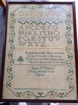 sampler antique needlework 1801