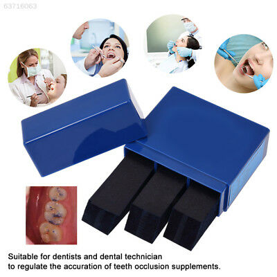 40AB Professional Dental  Bite Paper Red/Blue 300 Sheets Products Denture Debug