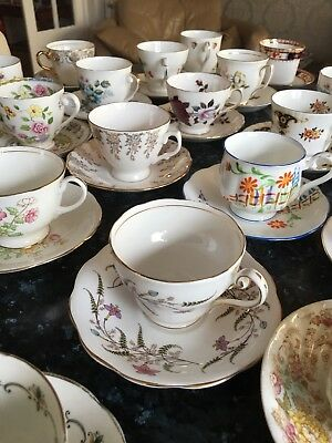 JOB LOT 20 Vintage Cups And Saucers