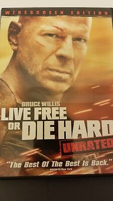 Die Hard 4: Live Free or Die Hard (DVD, 2007, Unrated Widescreen)