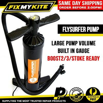 Flysurfer 2.0 Hand Pump Free Flow High Volume Double Action Boost Stoke Kite Sup