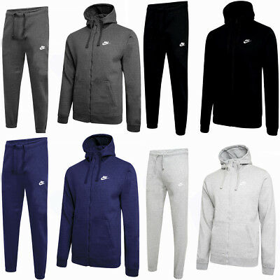 Nike Foundation New Men's Full Tracksuit Fleece Hooded Hoodie & Jogging Bottoms
